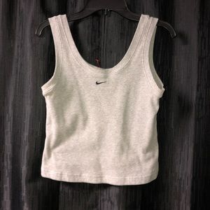 Vintage Grey Nike Cropped Tank Top